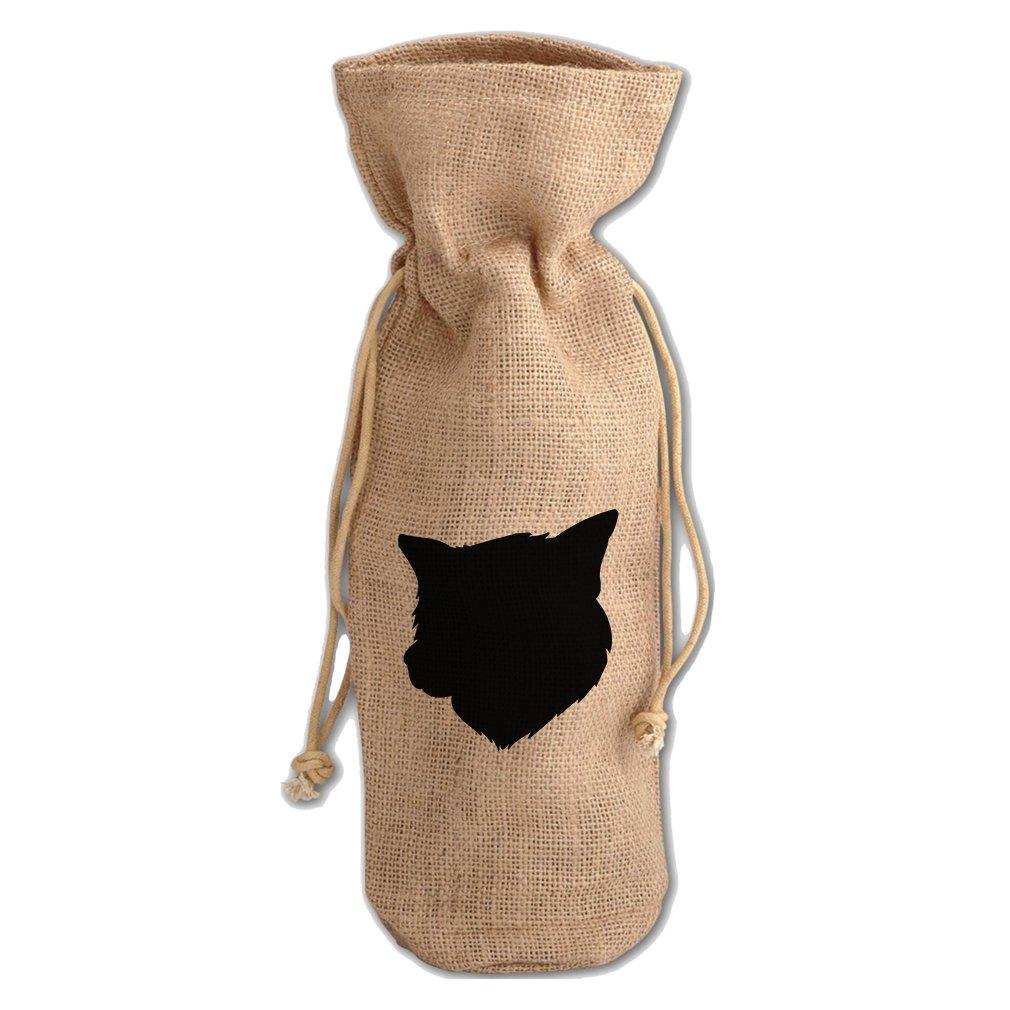 Burlap Wine Drawstring Bag Thai Bangkaew Dog Silhouette By Style In Print