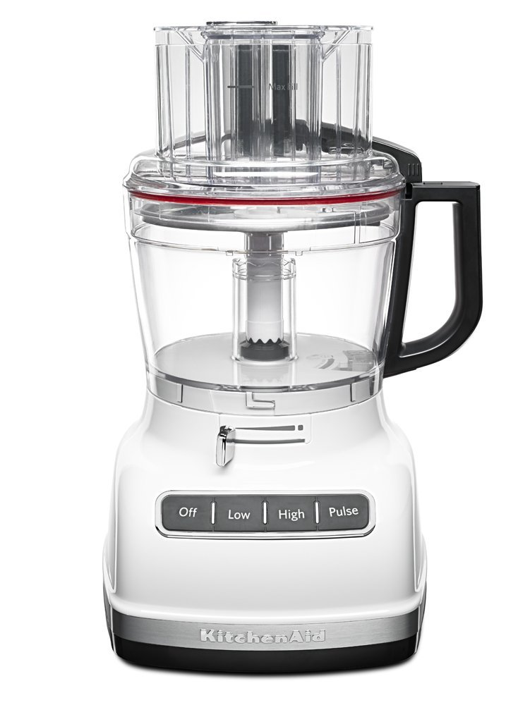 KitchenAid KFP1133WH 11-Cup Food Processor with Exact Slice System - White (Certified Refurbished)