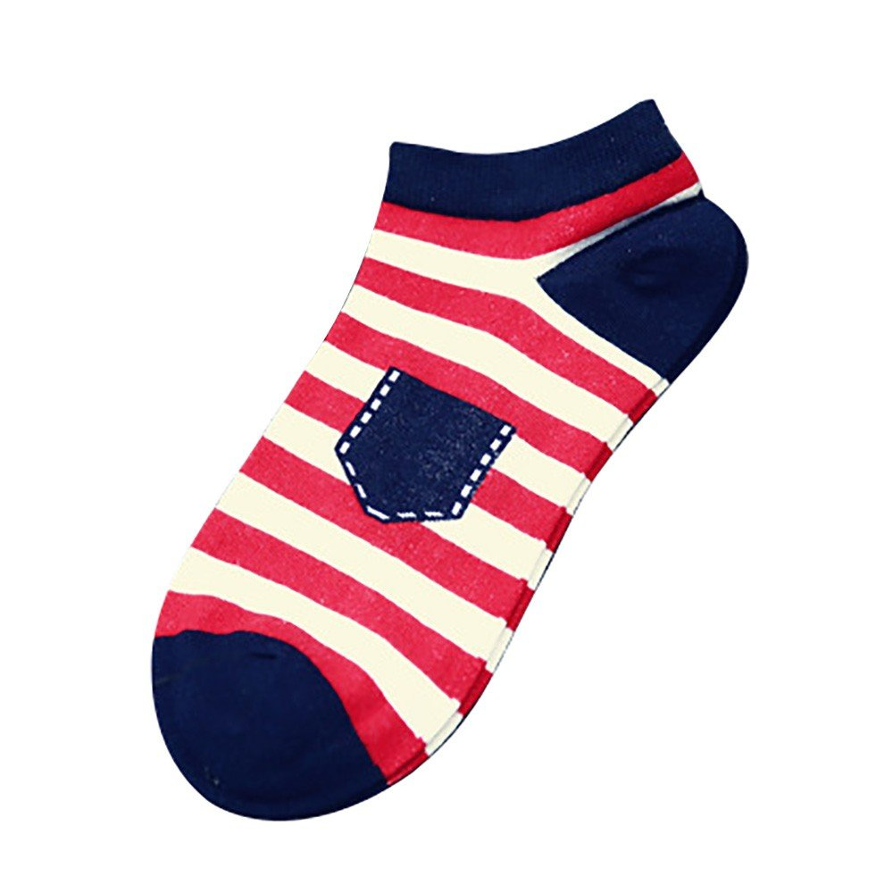ITISME Socken Unisex-Streifen-Baumwoll-Skateboard-Socken-Bequeme Socken Alice