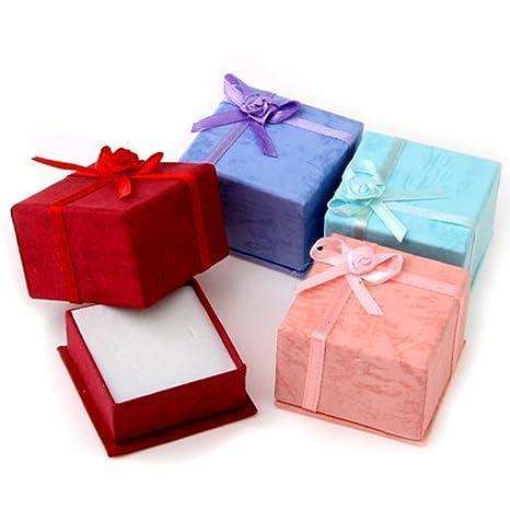 24 cajas de regalo NUOLUX con tapa para joyas, color al azar