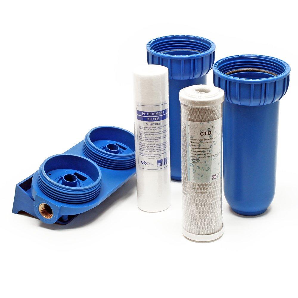 cartouche polypropyl/ène cl/é Naturewater NW-BR10B2 filtre double 26.16mm bloc charbon actif 3//4