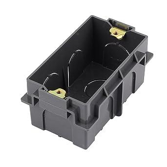 sourcingmap Rectangular Diseño 103mmx62mmx50mm Negro Pattress Caja ...