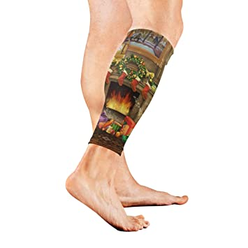 55244ec990 Leg Sleeve Christmas Puzzle Compression Socks Support Non Slip Calf Sleeves  Pads for Running, Shin