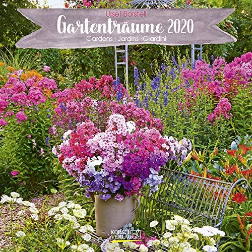 Gartenträume 2020: Broschürenkalender mit Ferienterminen. Landleben und Gärten. 30 x 30 cm - Wandkalender