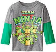 Teenage Mutant Ninja Turtles Boys' Team Ninja Long Sleeve Twofer