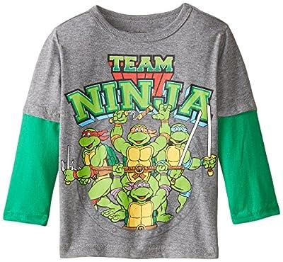 Teenage Mutant Ninja Turtles Boys' Team Ninja Long Sleeve Twofer