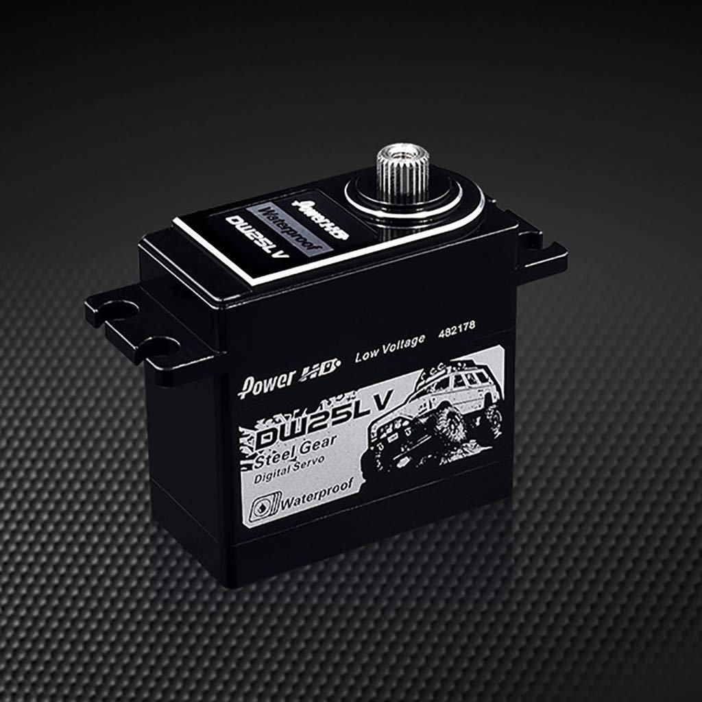 DDLmax RC Car Accessories, Power HD DW-25LV 25Kg High-Speed Voltage Metal Gear Servo Waterproof for 1/10 RC by DDLmax (Image #2)