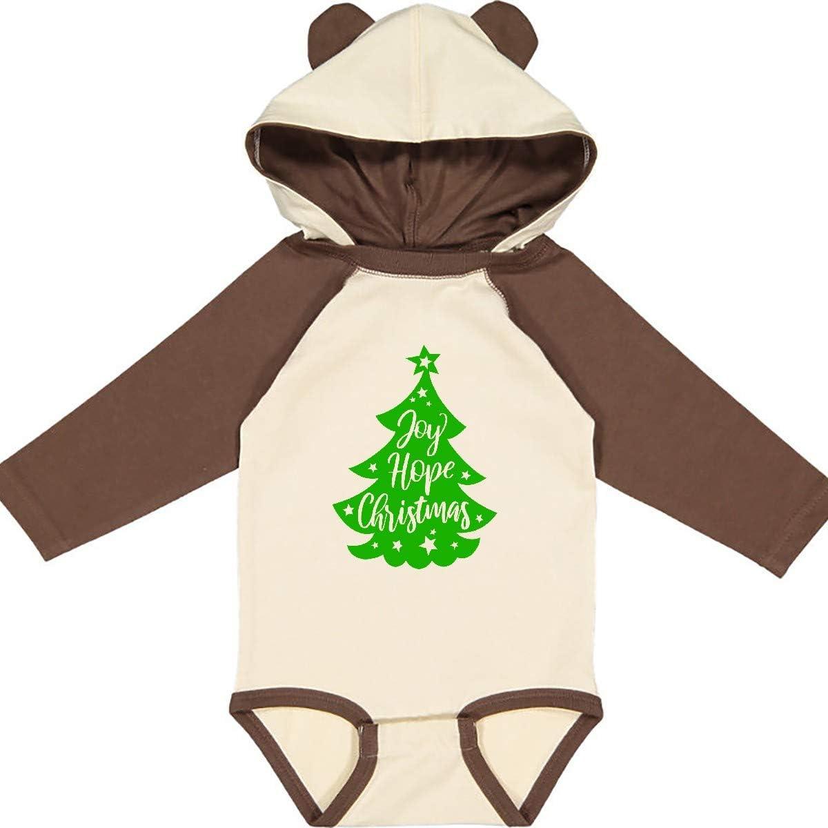 Hope Christmas Green Tree Long Sleeve Creeper inktastic Joy