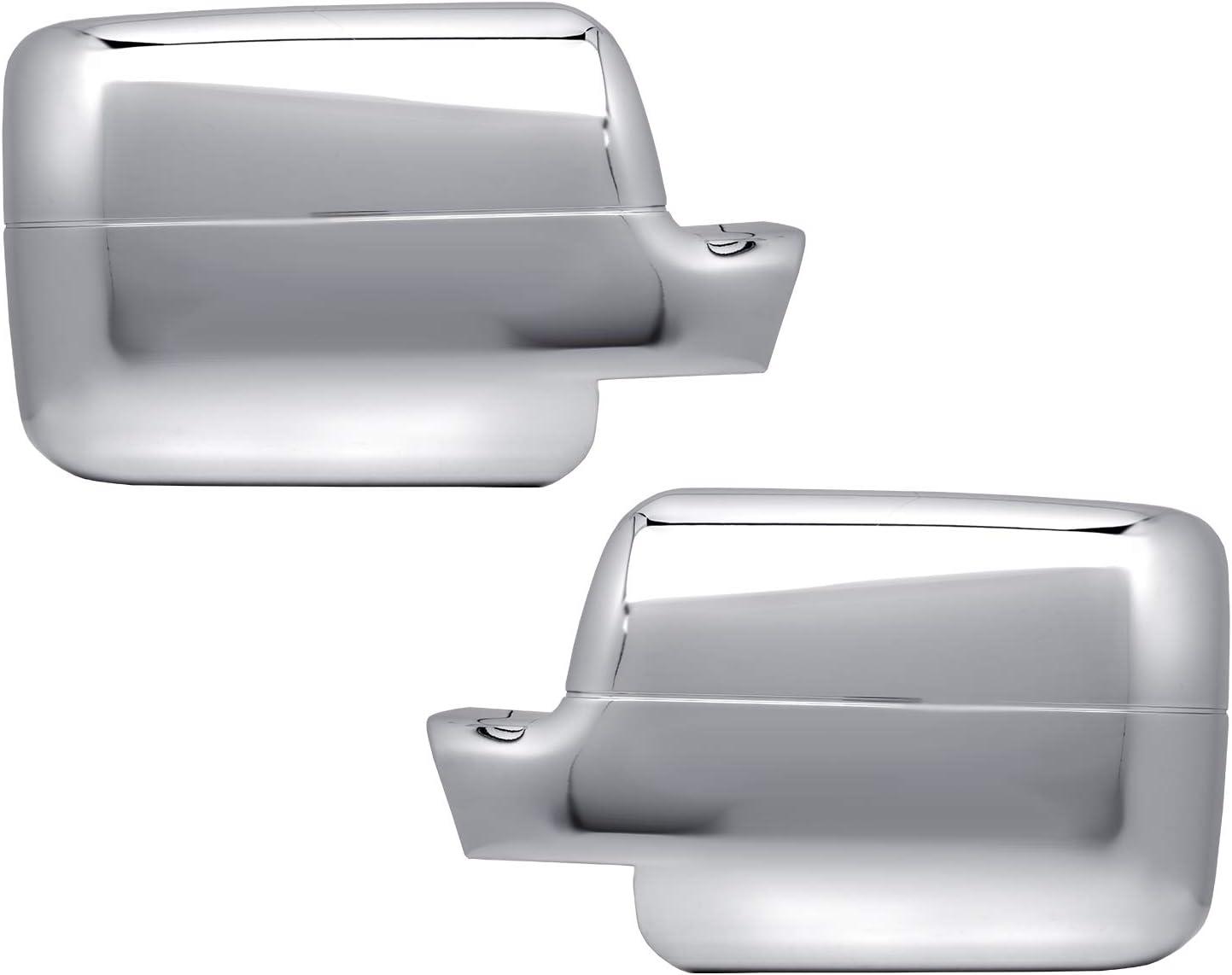 Sizver Chrome Door Mirror+Handles Cover For 2004-2008 Ford F150 4 Door-Model