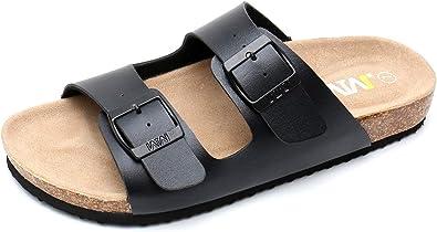 WTW Womens Arizona 2-Strap Cork Footbed Sandals
