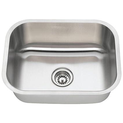 buy mr direct 2318 16 gauge undermount single bowl stainless steel
