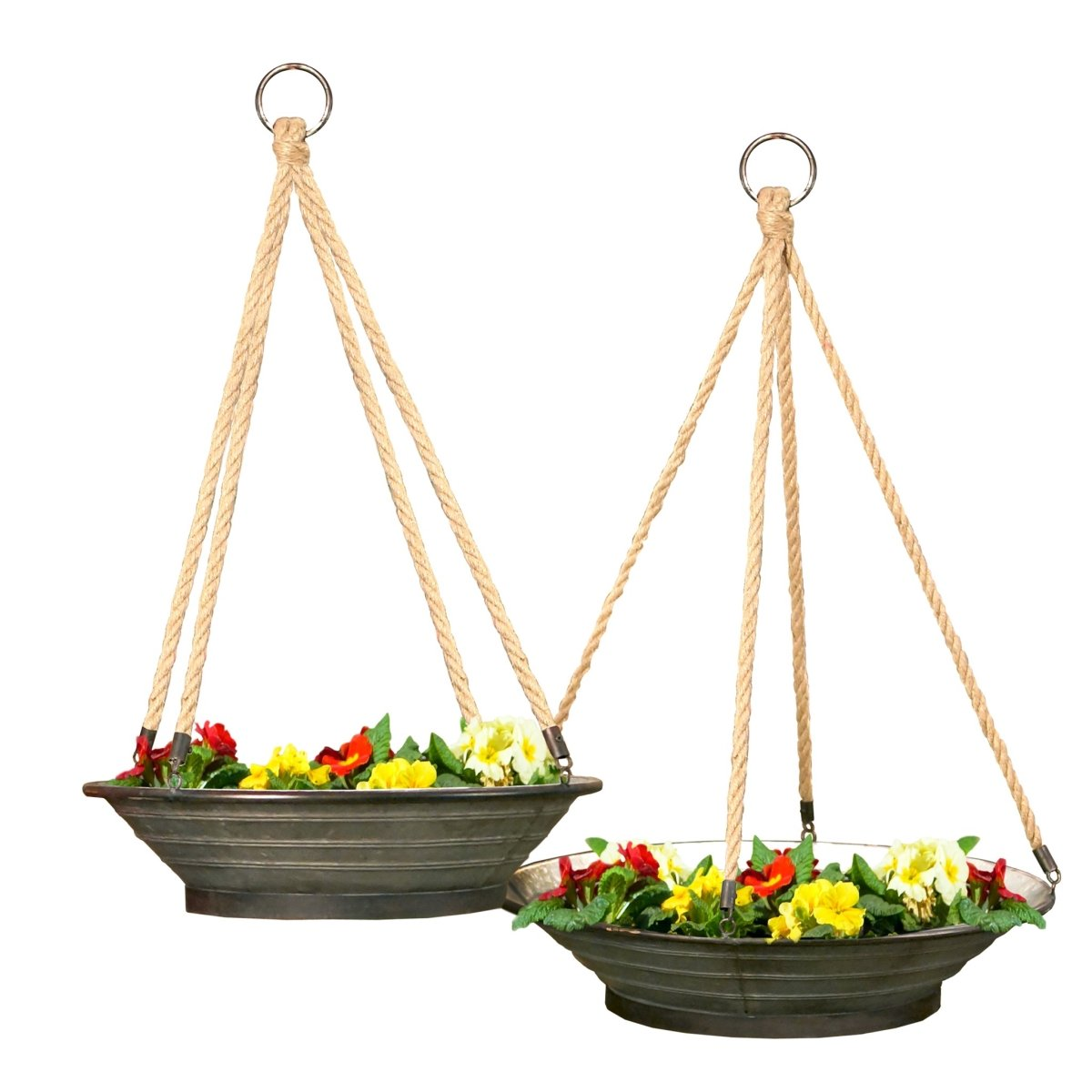 VIP Home Garden FH1579 Garden Hanging Planter Gray by VIP Home Garden