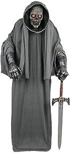 Holiday Halloween Décor Skeleton 72 in. Animated Warrior Grim Reaper Sword