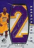 Kobe Bryant Autographed 2007-08 Upper Deck Sp Jersey Card