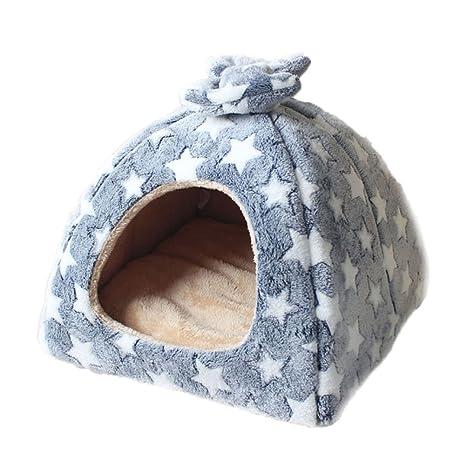 Ryan Suave y cálido Estrellas Pet Nest Antideslizante Perro Gato Hamster Cama Soft Cozy Sleeping Bag