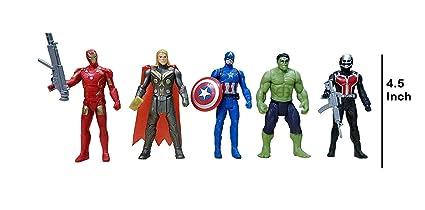 88068608da1868 Buy Avengers Toys Set - Captain America, Ironman, Hulk, Ant Man and ...