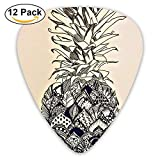 juice box pedal - Pineapple Assorted Celluloid Guitar Picks Plectrums 0.46 Mm, 0.71 Mm, 0.96 Mm, 12 Pack