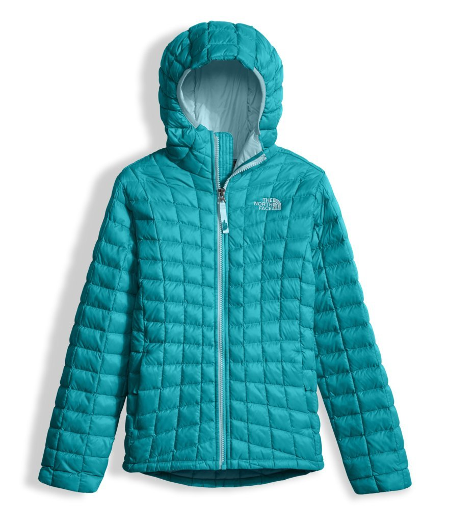 The North Face Girls Thermoball Hoodie Algiers Blue (Large)