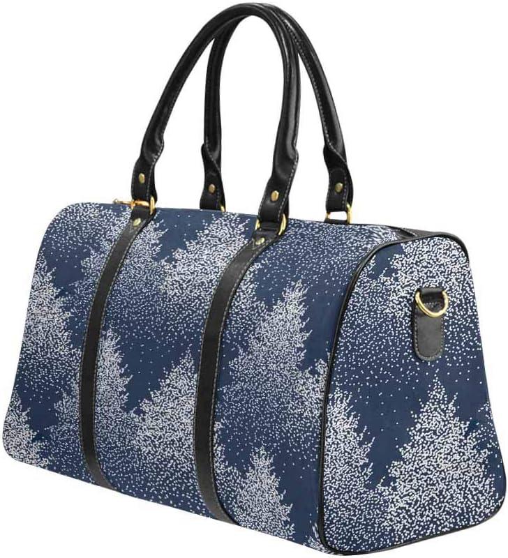InterestPrint Large Duffel Bag Flight Bag Gym Bag Fir Trees and Pines