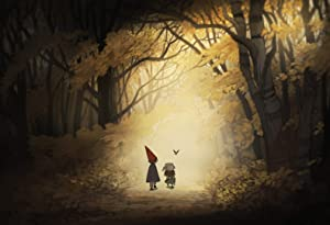 Over The Garden Wall Poster Nursery Art Print Over The Garden Wall Artwork No Frame Poster Modern Canvas Prints Wall Art Paintings Ready to Hang Home Decoration (XS (A4 Paper) - 8,5'' x 11'')