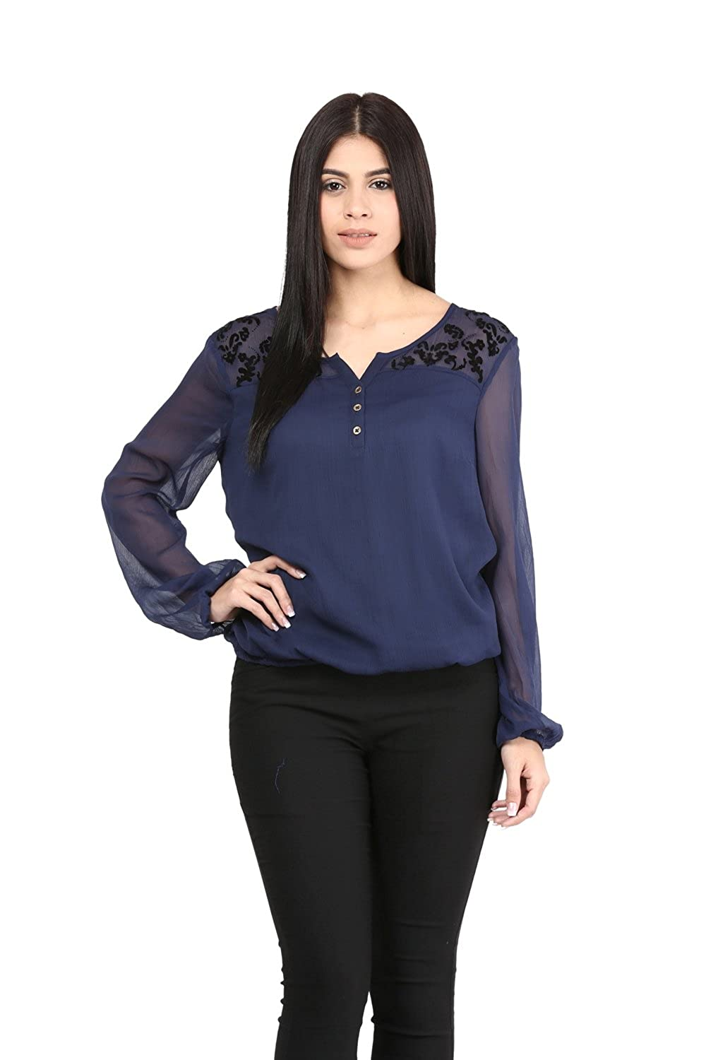 Blue Party Wear Top