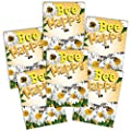 Set of 25 Individual Seed Packet Favors (Bee Happy Pollinator Mixture) Open Pollinated Seeds by Seed Needs