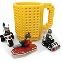 Fashion Electronics Taza con bloques de construcción de diferentes colores (incluye personaje y bloques de construcción)
