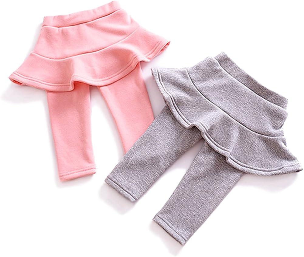 YOHA Baby Girls Winter Warm Tutu Pants Culotte Toddler Bottom Legging Dress