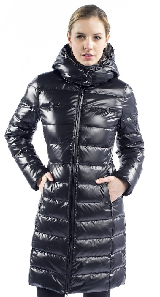 HAPPY GOAT LUCKY Miranda HGL Women's Down Jacket (L, Black Without Fur) by HAPPY GOAT LUCKY