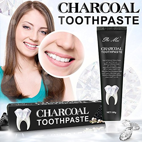 Bamboo Activated Charcoal Teeth Whitening Toothpaste Teeth Hygiene Whitener Mint Flavor by Aoile