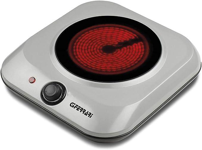 G3Ferrari G10117 Galaxy - Hornillo eléctrico de vitrocerámica, 6 potencias, 1200 W