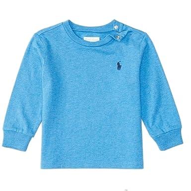 37598c0ef Ralph Lauren - Camiseta de Manga Larga - para bebé niño Gris Athlete Grey  24 Meses  Amazon.es  Ropa y accesorios