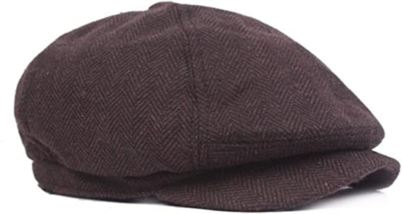 DecStore Pacco di 2 Uomo Cotone Cappuccio Berretti Edera Cappelli Guida Cappelli Invernale Vintage Beret Hat
