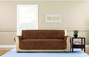 SureFit Sofa Slipcover, Brown