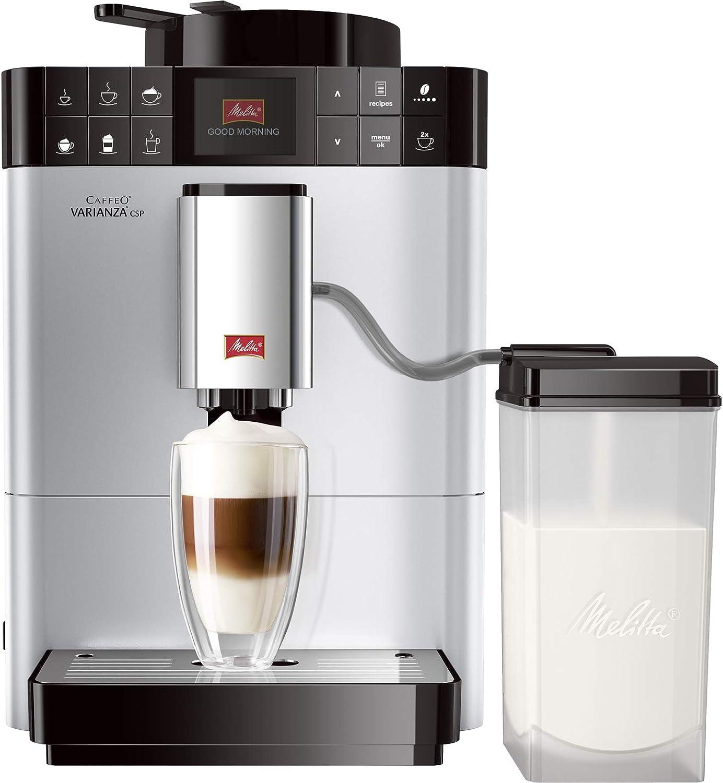 Melitta Caffeo Varianza CSP F570-101, Cafetera Molinillo, Café en Grano, Personalizable, Pantalla TFT, Limpieza Automática, 15 Bares, Plata, 1450 W, 1.2 litros, Acero Inoxidable, 5 Velocidades: Amazon.es: Hogar