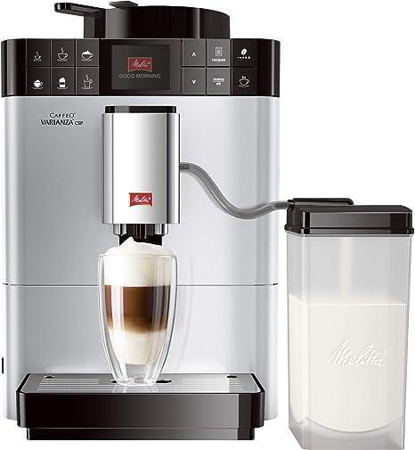 Melitta Caffeo Varianza CSP 570-101, Cafetera Superautomática | Modo Eco | Contenedor de Leche Externo | 10 Recetas de Café Preregistradas | Plata, ...