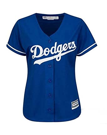 Majestic Athletic Los Angeles Dodgers Womens Jersey Blue (Small)