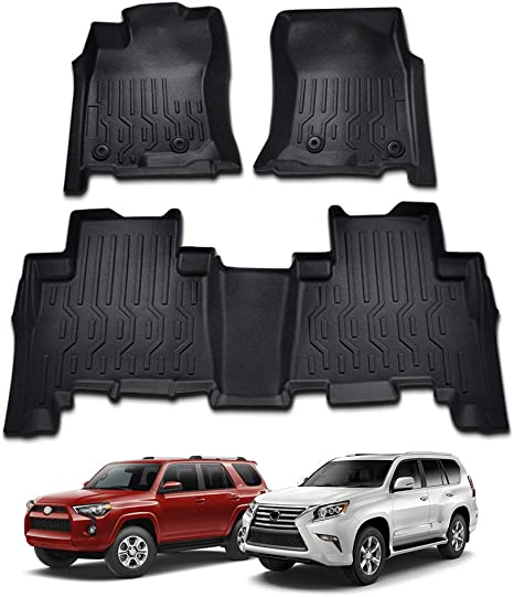 Powerty Floor Mats for Toyota 4Runner 2013-2019 /& Lexus GX460 2014-2019 4D All Weather Protection