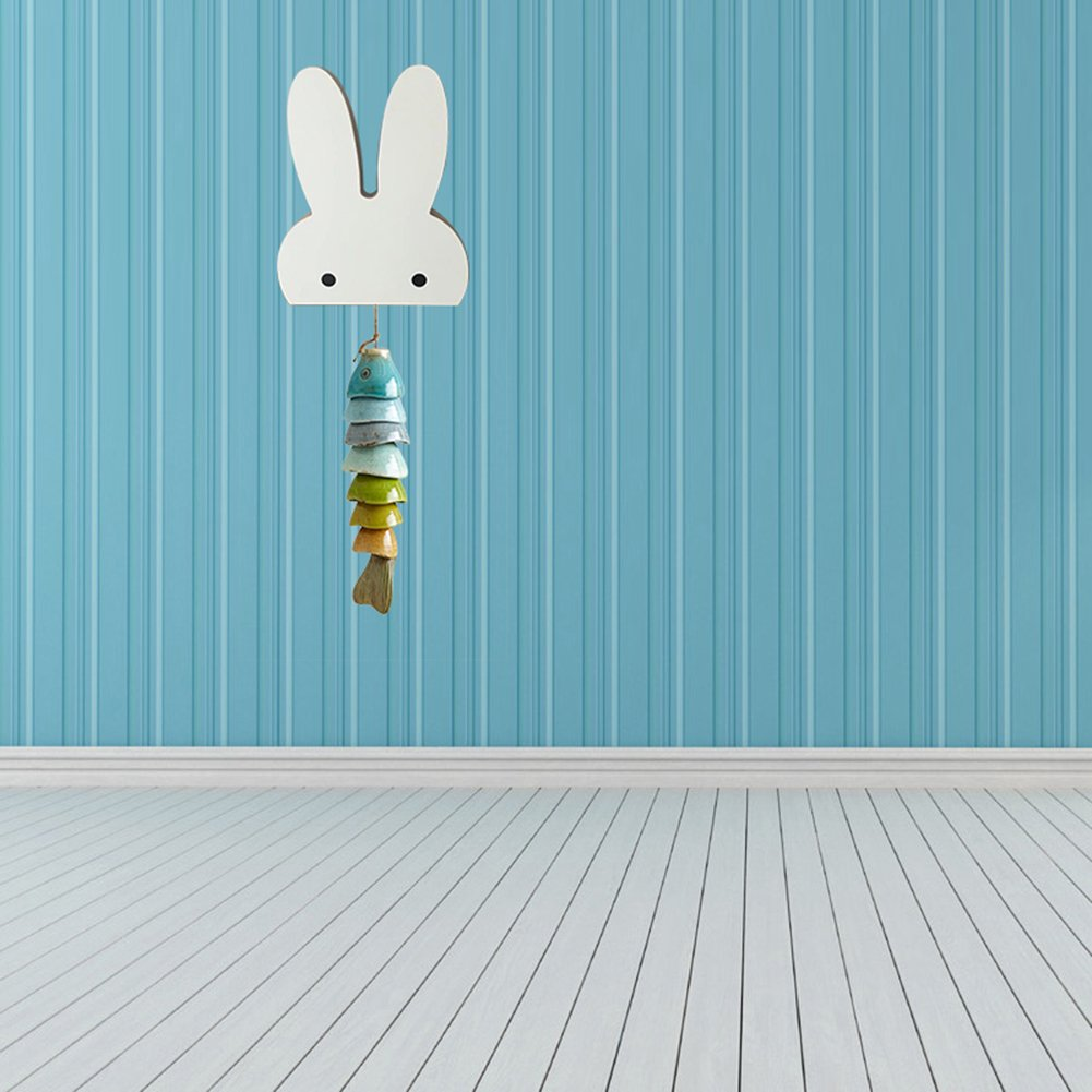 Bluelans - Colgador de Pared con Forma de Conejo Accesorio de Organizador casa habitación Infantil Madera Gancho para Colgar, Madera, Blanco, ...