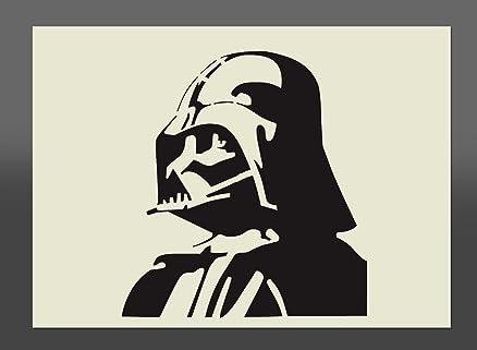 Star Wars Dart Fener - Stencil formato A4, 297 x 210 mm da parete ...
