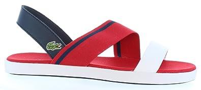 Sandales pour Femme LACOSTE 33CAW1025 VIVONT RS7 RED-NVY AvszAI