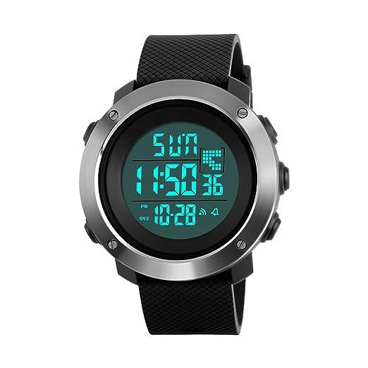 ad86b1845 Reloj digital LED electrónico de reloj de pulsera para pareja con relojes  deportivos para hombre,