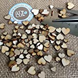Wooden Hearts Wedding Scatter Hearts Embellishments for Craft
