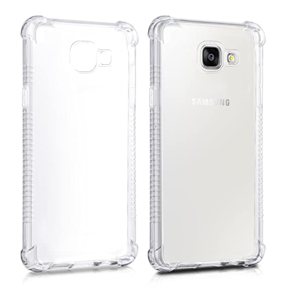 cheap for discount 9aa47 8ac0e kwmobile Crystal case for Samsung Galaxy A5 (2016) TPU Silicone case with  Corners' Protection - Slim Transparent Smartphone Protective case Cover in  ...