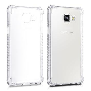 kwmobile Funda Transparente para Samsung Galaxy A5 (2016) Carcasa de Silicona TPU con protección en Las Esquinas - Funda Protectora Fina y ...