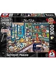 Secret puzzles, artist studio, 1000 piece puzzles
