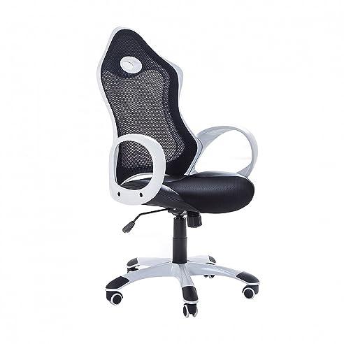 Schreibtischstuhl schwarz weiß  Bürostuhl Schwarz-Weiss - Schreibtischstuhl - Gaming Stuhl ...