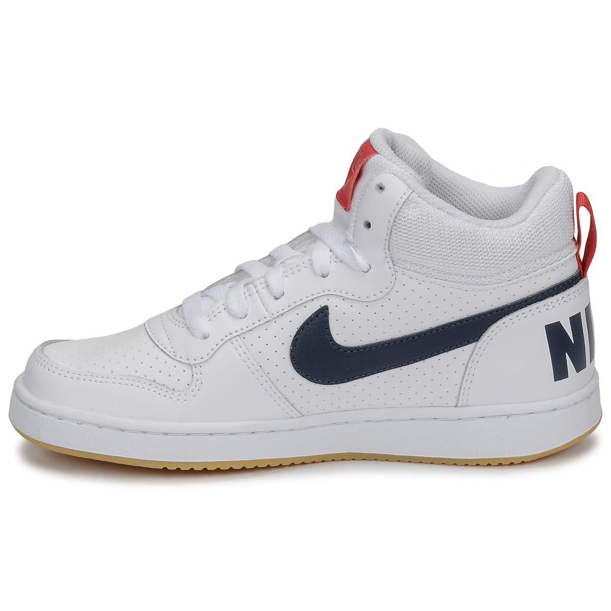 Nike Boys Court Borough Mid (Gs) Basketball Shoes Weiß