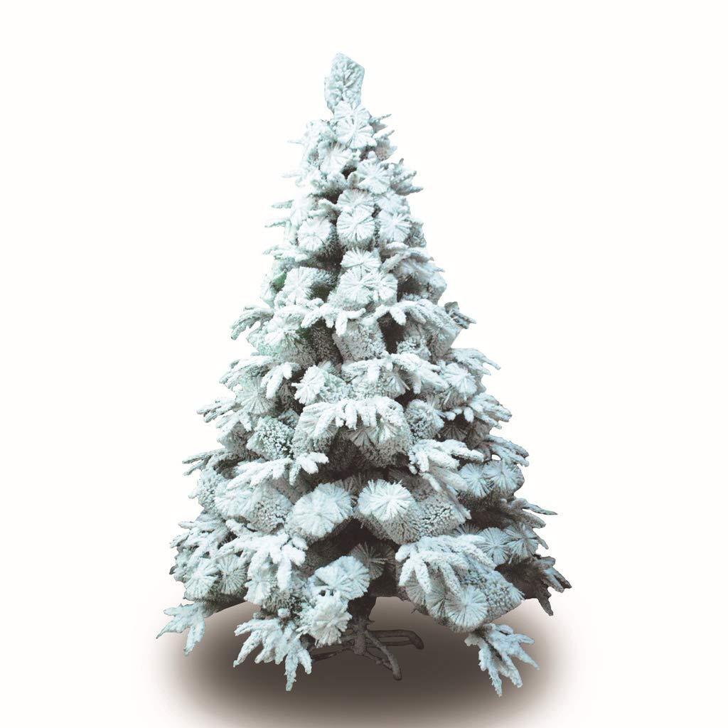 XF Christmas Tree-Christmas Supplies Flocking Christmas Tree Snowflake Tree Mall PVC Christmas Decoration // (Size : 180cm)