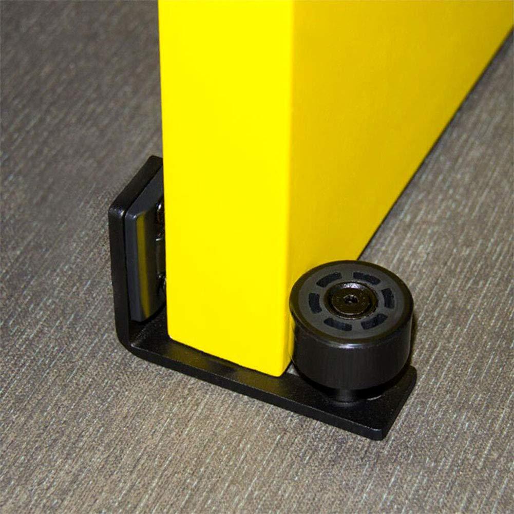 Hyever Sliding Barn Door Floor Guide Roller Adjustable Floor Guide withBall Bearings and Quieter Wheel Wall Mount Set of 2